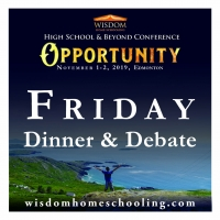 Friday session, Banquet & Debate ONLY